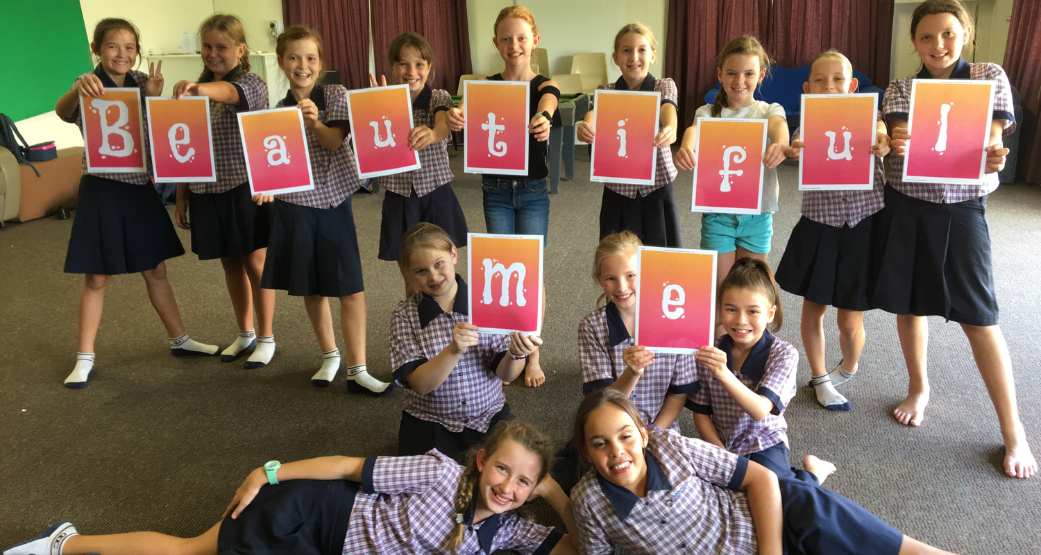 Year 5 girls participating in the Pastoral Care program, Beautiful Me