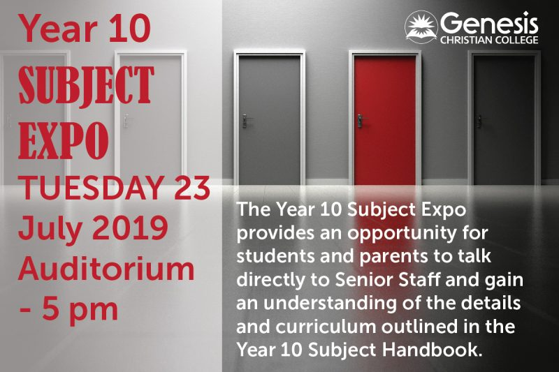 Yr 10 Subject Expo